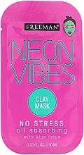 Voňavky, Parfémy, kozmetika Upokojujúca maska - Freeman Beauty Neon Vibes No Stress Oil Absorbing Clay Mask