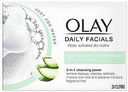 Voňavky, Parfémy, kozmetika Suché utierky aktivované vodou pre citlivú pokožku - Olay Cleanse Daily Facials Cloths Sensitive