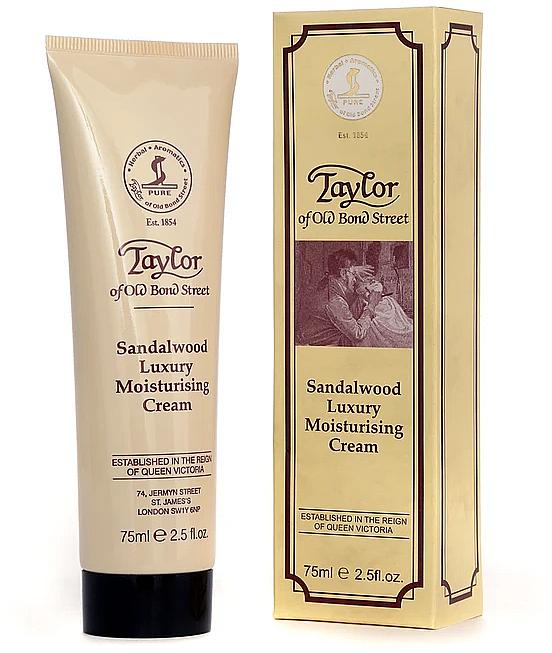 "Hydratačný krém ""Santalové drevo"" - Taylor of Old Bond Street Sandalwood Moisturising Cream"
