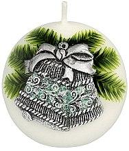 """Voňavky, Parfémy, kozmetika Dekoratívna sviečka """"Guľa. Vianočný zvonček"""", 8 cm - Artman Christmas Bell Candle Ball"""