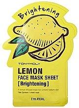 Voňavky, Parfémy, kozmetika Listová maska na tvár - Tony Moly I'm Real Lemon Mask Sheet