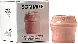Voňavky, Parfémy, kozmetika Stojan na zubnú kefku, červený - NaturBrush Sommier Toothbrush Holder