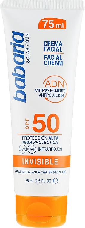 Krém na tvár s SPF ochranou - Babaria Invisible Facial Sun Cream Spf 50 — Obrázky N1