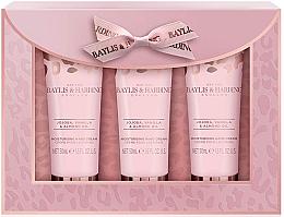 Voňavky, Parfémy, kozmetika Sada - Baylis & Harding Jojoba, Vanilla & Almond Oil Hand Cream Set (h/cr/50mlx3)