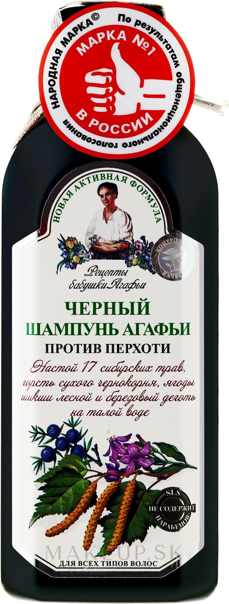 Čierny šampón proti lupinám Agafín - Recepty babičky Agafy — Obrázky 350 ml