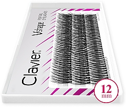 Voňavky, Parfémy, kozmetika Umelé mihalnice, 12 mm - Clavier V-Shape Eyelashes