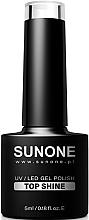 Voňavky, Parfémy, kozmetika Vrcný lak - Sunone UV/LED Gel Polish Top Shine