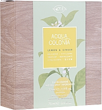 Voňavky, Parfémy, kozmetika Maurer & Wirtz 4711 Aqua Colognia Lemon & Ginger - Sada  (edc/50ml + sh/gel/75ml)