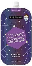 Voňavky, Parfémy, kozmetika Hydratačná maska s holografickým peelingom - Freeman Beauty Cosmic Holographic Peel-Off Hydrating Amethyst Mask
