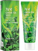 Voňavky, Parfémy, kozmetika Čistiaca pena so semenami zeleného čaju - FarmStay Green Tea Seed Premium Moisture Foam Cleansing
