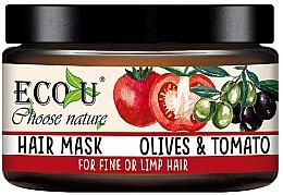 """Voňavky, Parfémy, kozmetika Maska na tenké vlasy """"Paradajky a olivy"""" - Eco U Mask For Fine Hair"""