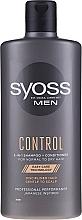 Voňavky, Parfémy, kozmetika Šampon-kondicionér pre normálne a suché vlasy - Syoss Men Control 2-in-1 Shampoo-Conditioner