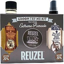 Voňavky, Parfémy, kozmetika Sada - Reuzel Extreme Hold Try Me Kit (h/pomade/35g + h/spray/100ml + shm/100ml)
