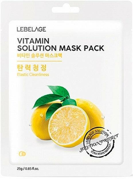 Textilná maska na tvár - Lebelage Vitamin Solution Mask