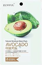Voňavky, Parfémy, kozmetika Hydratačná textilná maska na tvár s avokádom - Eunyul Natural Moisture Mask Pack Avocado