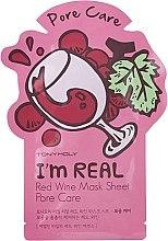 Voňavky, Parfémy, kozmetika Listová maska na tvár - Tony Moly I'm Real Red Wine Mask Sheet