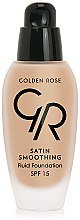 Voňavky, Parfémy, kozmetika Make-up - Golden Rose Satin Smoothing Fluid Foundation SPF15