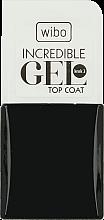 Voňavky, Parfémy, kozmetika Gélový vrchný lak na nechty - Wibo Incredible Gel Top Coat