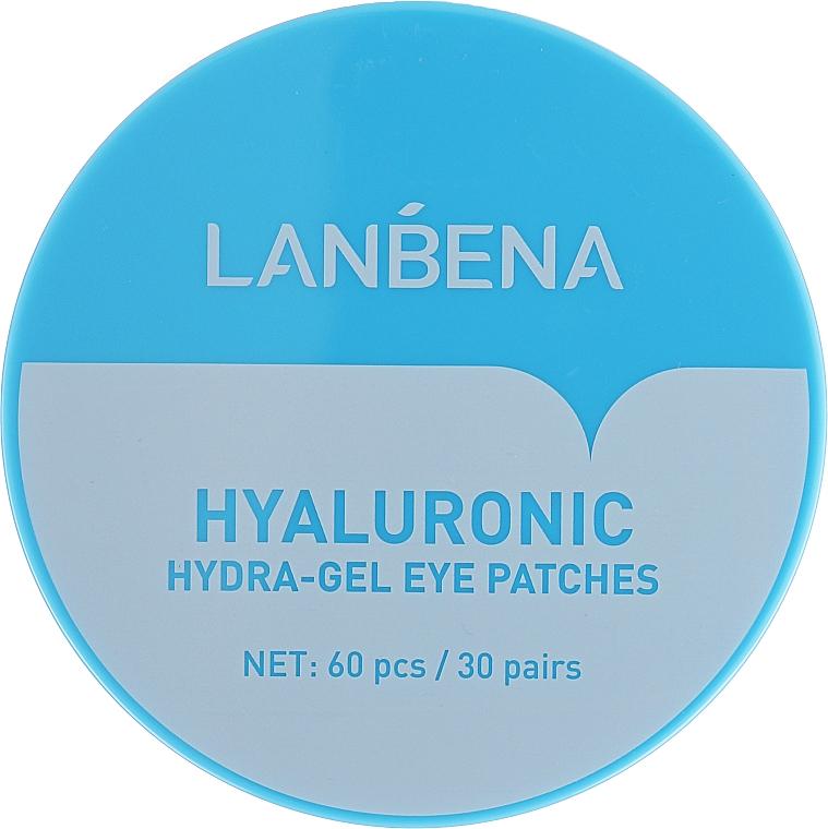 Hydratačné hydrogélové náplasti na oči - Lanbena Hyaluronic Acid Collagen Gel Moisturizing Eye Patch