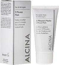 Voňavky, Parfémy, kozmetika 5-minútová maska-expres na tvár - Alcina B 5 Minute Mask