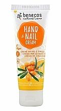 """Voňavky, Parfémy, kozmetika Krém na ruky a nechty """"Rakytník a pomaranč"""" - Benecos Natural Care Sea Buckthorn & Orange Hand And Nail Cream"""