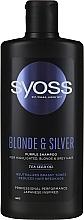 Voňavky, Parfémy, kozmetika Šampón pre svetlé, odfarbené a sivé vlasy - Syoss Blond & Silver Purple Shampoo For Highlighted, Blonde & Grey Hair