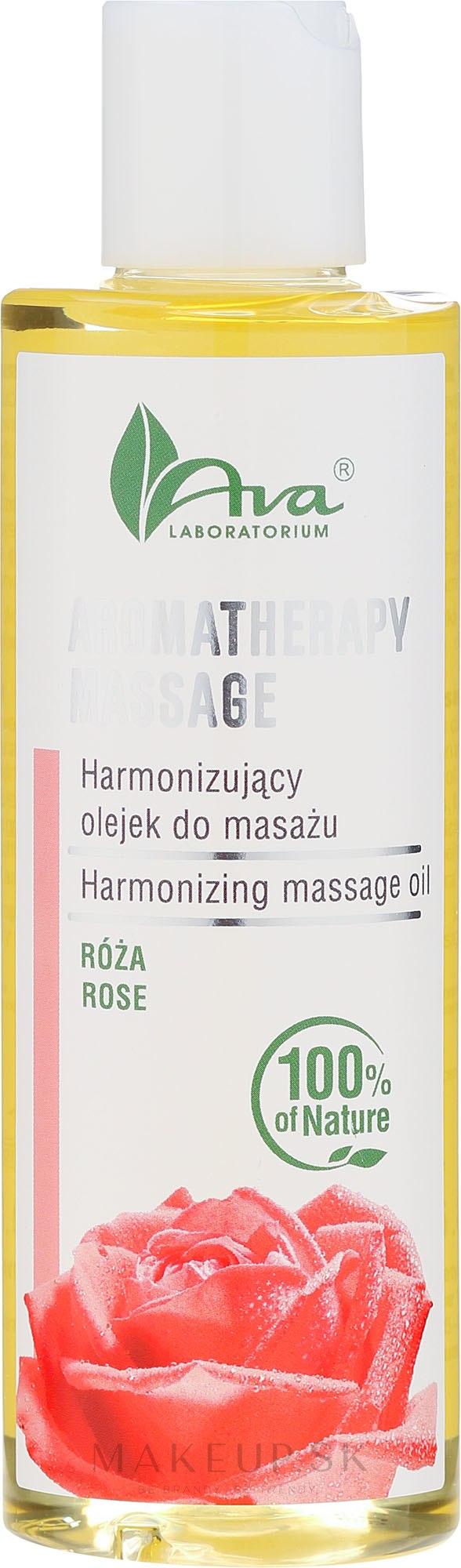 Harmonizujúci masážny olej s ruží - Ava Laboratorium Aromatherapy Massage Harmonizing Massage Oil Rose — Obrázky 200 ml