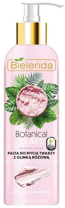Pasta na tvár z ružovej hliny - Bielenda Botanical Clays Vegan Face Wash Paste Pink Clay