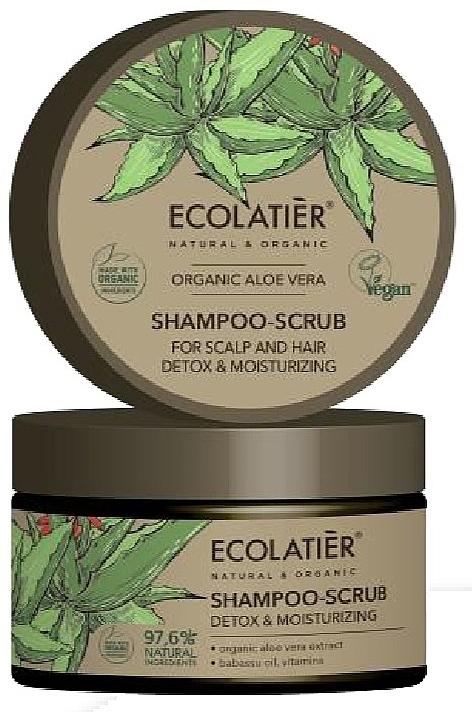 """Scrubový šampón na vlasy """"Čistenie a detox"""" - Ecolatier Organic Aloe Vera Shampoo-Scrub"""