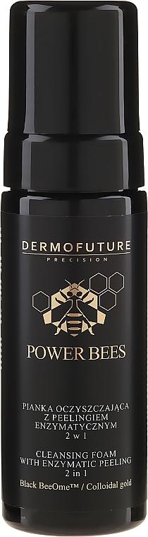 Čistiaca pena s enzýmovým peelingom 2v1 - Dermofuture Power Bees Cleansing Foam 2in1