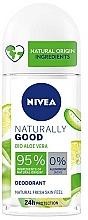 Voňavky, Parfémy, kozmetika Dezodorant roll-on s aloe - Nivea Naturally Good Deodorant Roll-on Bio Aloe Vera