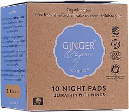 Voňavky, Parfémy, kozmetika Nočné hygienické vložky, 10 ks - Ginger Organic