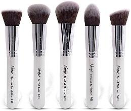 Voňavky, Parfémy, kozmetika Súprava kefiek - Nanshy Face Brush Set White (Brush/5ks)