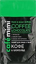"""Voňavky, Parfémy, kozmetika Scrub na tvár a telo """"Káva a čokoláda"""" - Cafe Mimi Scrub"""