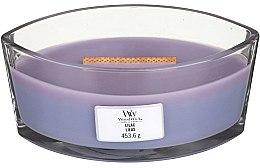 Voňavky, Parfémy, kozmetika Vonná sviečka v pohári - Woodwick Hearthwick Flame Ellipse Candle Lilac