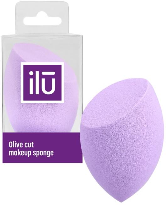 Špongia pre make-up s plochým rezom, fialová - Ilu Sponge Olive Cut Purple