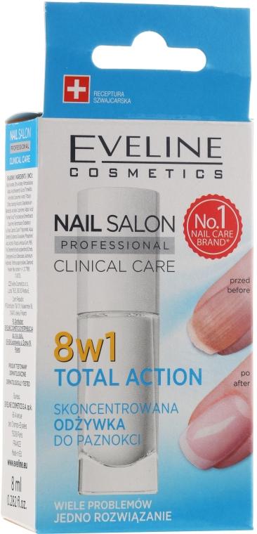 Prostriedok na obnovenie nechtov 8v1 - Eveline Cosmetics Nail Salon Clinical Care 8 in 1