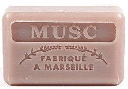"""Voňavky, Parfémy, kozmetika Marseillské mydlo """"Pižmo"""" - Foufour Savonnette Marseillaise Musc"""