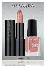 Voňavky, Parfémy, kozmetika Sada - Mesauda Milano I Want You Kit (lipstick/3.5g + nail polish/10ml) (Gothicfull)