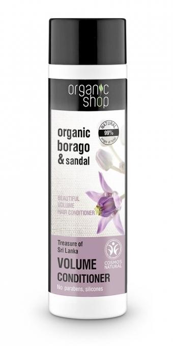 """Balzam """"Silný objem. Poklady Šrí Lanky"""" - Organic Shop Organic Sandal and Indian Nut Volume Conditioner — Obrázky N1"""