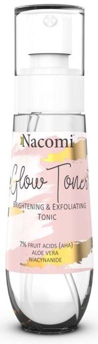 Rozjasňujúci tonikum na tvár - Nacomi Glow Brightening & Exfoliating Tonic
