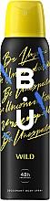 Voňavky, Parfémy, kozmetika B.U. Wild - Dezodorant