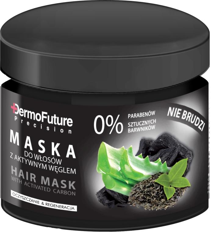 Aktívna maska na vlasy z aktívneho uhlia - DermoFuture Hair Mask With Activated Carbon