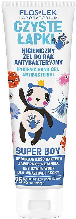 Antibakteriálny gél na ruky - Floslek Super Boy Hygienic Antibacterial Hand Gel — Obrázky N1