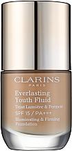 Voňavky, Parfémy, kozmetika Trvalý tónovací fluid s anti-age efektom SPF15 - Clarins Everlasting Youth Fluid