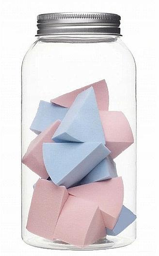 Špongie na makeup v sklenenej nádobe, 415216, 14 ks - Inter-Vion