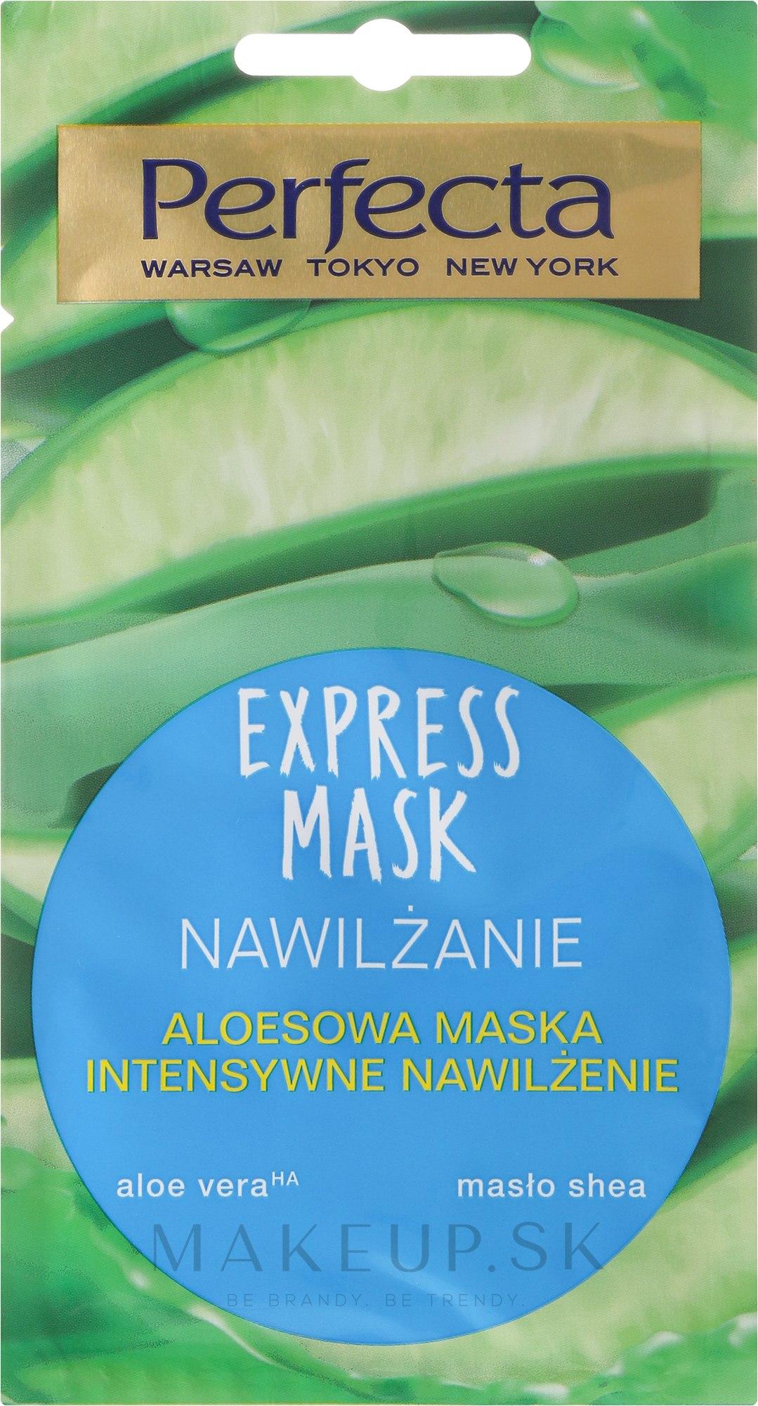 Hydratačná maska na tvár s aloe vera - Perfecta Express Mask — Obrázky 8 ml