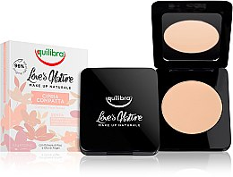 Voňavky, Parfémy, kozmetika Kompaktný púder na tvár - Equilibra Love's Nature Compact Face Powder