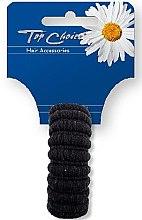 Voňavky, Parfémy, kozmetika Gumičky na vlasy, čierne, 22814 - Top Choice
