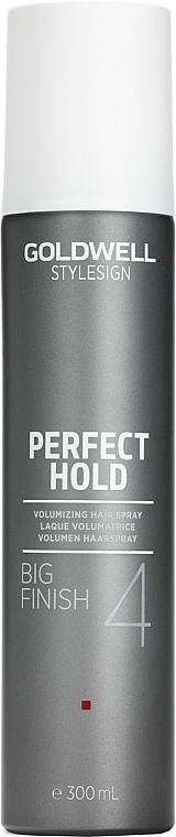 Objemový lak pre silnú fixáciu - Goldwell Style Sign Perfect Hold Big Finish Volumizing Hairspray